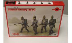 35679 Германская пехота (1914 г.), (4 фигуры) 1:35 ICM