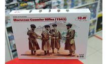 35565 Фигуры Марокканские гумьеры (1943 г.) 1:35 ICM возможен обмен, миниатюры, фигуры, scale35