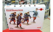 35682 Французская пехота (1914 г.), (4 фигуры) 1:35 ICM возможен обмен, миниатюры, фигуры, scale35