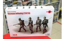 35679 Германская пехота (1914 г.), (4 фигуры) 1:35 ICM возможен обмен, миниатюры, фигуры, scale35