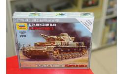 6151 Немецкий  танк Т-IV 1:100 Звезда возможен обмен, сборные модели бронетехники, танков, бтт, scale100