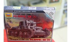 6130 Нем.танк  Т-38 1:100 Звезда возможен обмен, сборные модели бронетехники, танков, бтт, scale100