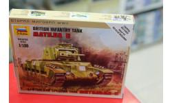 6171 Британский танк Матильда Мк-2 1:100 Звезда возможен обмен, сборные модели бронетехники, танков, бтт, scale100