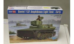 83818  Танк Soviet T-37 Amphibious Light Tank - Early 1:35 Hobby Boss, сборные модели бронетехники, танков, бтт, 1/35