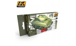 AK-131 OLIVE DRAB MODULATION SET ak-interactive, фототравление, декали, краски, материалы