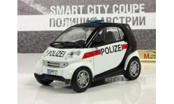 Полицейские Машины №45 - Smart City Coupe, журнальная серия Полицейские машины мира (DeAgostini), 1:43, 1/43, Airbus