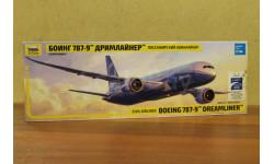 7021 авиалайнер Боинг 787-9 1:144 Звезда