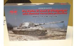 35363 Pz.Kpfw.VI Ausf.B 'Королевский Тигр' с башней Хеншель (позднего производствак 1:35 ICM