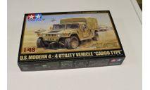 32563 US Modern 4x4 Cargo Type. 1:48 Tamiya, сборные модели бронетехники, танков, бтт, 1:35, 1/35
