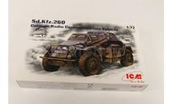 72431 Sd.Kfz.260, Немецкий подвижный пункт связи 1:72 ICM, сборные модели бронетехники, танков, бтт