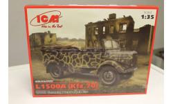 35525-Мерседес L1500A( Kfz.70), Германский автомобиль 1:35 ICM, сборная модель автомобиля, 1/35