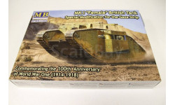 72004 Британский танк MK I 'Самка', специальная модификация для Сектора Газа, сборные модели бронетехники, танков, бтт, 1:72, 1/72, Master Box, МАЗ