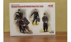 35614 Фигуры Германский экипаж бронеавтомобиля (1941-1942 г.), (4 фигуры и кот)