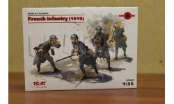 35691 Фигуры Пехота Франции (1916 г.) 1:35 ICM