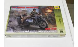 3607 Мотоцикл ВМW R-12  1:35 Звезда, сборные модели бронетехники, танков, бтт, 1/35