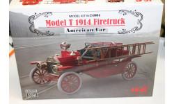 24004 Model T 1914 Firetruck, Американский пожарный автомобиль 1:24 ICM  возможен обмен