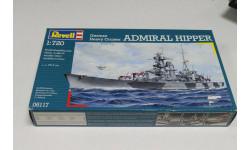 05117 German Heavy Cruiser ADMIRAL HIPPER 1:720 Revell Возможен обмен, сборные модели кораблей, флота