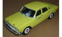 ГАЗ-24-01 такси лимонно-желтый DeAgostini Автомобиль на службе №30 АНС-30, масштабная модель, Автомобиль на службе, журнал от Deagostini, scale43