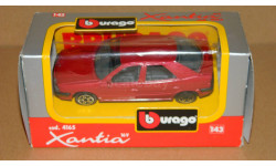 Citroen Xantia Light Red Metallic BBurago 4165, масштабная модель, Citroën, 1:43, 1/43