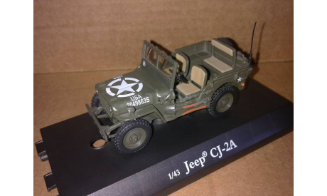 Jeep CJ-2A Willys Военный Cararama, масштабная модель, 1:43, 1/43, Bauer/Cararama/Hongwell