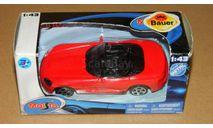 Dodge Viper SRT10 Roadster 2002 Red Maisto, масштабная модель, 1:43, 1/43