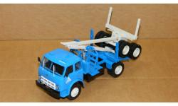 МАЗ-509А НАП лесовоз с роспуском синий-белый Наш Автопром Н714