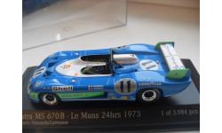 MATRA MS 670B. Le Mans 24h 1973. MINICHAMPS 1/43