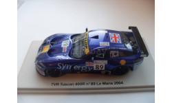 TVR Tuscan 400r #89 LM 2004. Spark 1/43, масштабная модель, scale43