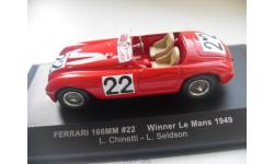 FERRARI 166MM #22 Winner Le Mans 1949. IXO 1/43