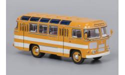 Автобус ПАЗ-672 желтый с белыми полосами