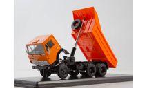 КамАЗ-5511 оранжевый самосвал, масштабная модель, Start Scale Models (SSM), scale43