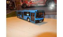 Автобус ЛиАЗ-5292 синий МОСГОРТРАНС, масштабная модель, scale43