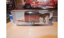 Horse Trailer с лошадью, масштабная модель, Прицеп, Bauer/Cararama/Hongwell, 1:43, 1/43