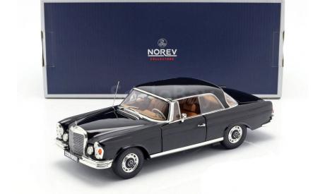 Мерседес Бенц Mercedes Benz 280SE Coupe W111 1969 Черный Norev 1:18 183432 БЕСПЛАТНАЯ доставка, масштабная модель, scale18, Mercedes-Benz