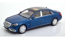 Мерседес Бенц Майбах Mercedes Benz Maybach S 650 (W222) 2018 Blue Metallic Norev 1:18 183425 БЕСПЛАТНАЯ доставка, масштабная модель, scale18, Mercedes-Benz