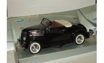 Форд Ford Deluxe Cabriolet 1936 Черный Welly 1:24, масштабная модель, scale24