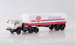 Камаз 5410 тягач + полуприцеп Одаз 9370 Россия Элекон АРЕК 1:43 БЕСПЛАТНАЯ доставка, масштабная модель, scale43