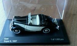 Opel Super6 1937, масштабная модель, 1:43, 1/43, WhiteBox