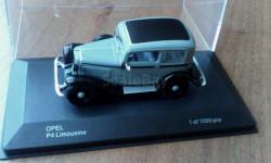 Opel P4 Limousine, масштабная модель, 1:43, 1/43, WhiteBox
