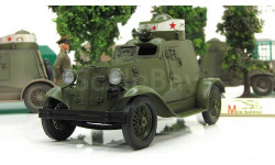 1.43 ФАИ бронеавтомобиль (двуцветная башня) чистый (Моделстрой)  Масштабная коллекционная модель, масштабные модели бронетехники, 1:43, 1/43