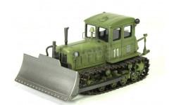 Т-74 бульдозер поздний (хаки) (Моделстрой)  Масштабная коллекционная модель, редкая масштабная модель, 1:43, 1/43