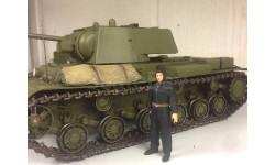 1.43 Танк КВ-1 (чистый хаки) (Моделстрой)  Масштабная коллекционная модель, масштабные модели бронетехники, 1:43, 1/43