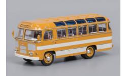ПАЗ-672 Охра, белые полосы