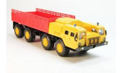 МАЗ-7310 Ураган бортовой, желтый/красный, масштабная модель, 1:43, 1/43, Элекон
