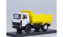 МАЗ-5551 самосвал (поздний, белый/жёлтый), масштабная модель, 1:43, 1/43, Start Scale Models (SSM)