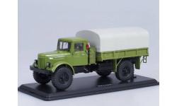 МАЗ-502 4х4 бортовой с тентом, покрышки Я-90 (зелёный)