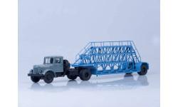 МАЗ-200В с полуприцепом НАМИ-790, (серый/голубой), масштабная модель, 1:43, 1/43, Автоистория (АИСТ)