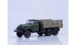 ЗИС-151 бортовой, зелёный/коричневый, масштабная модель, 1:43, 1/43, Автоистория (АИСТ)