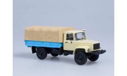 ГАЗ-33081 4х4 (двиг. Д-245.7 Diesel Turbo) с тентом, (бежевый), масштабная модель, 1:43, 1/43, Автоистория (АИСТ)