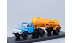 ЗИЛ-130В1 (поздний) + полуприцеп ТЦ-4 Цемент (оранжевый), масштабная модель, 1:43, 1/43, Start Scale Models (SSM)
